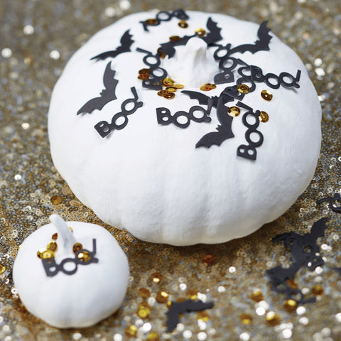 Black & Gold Halloween Table Confetti -  Trick Or Treat