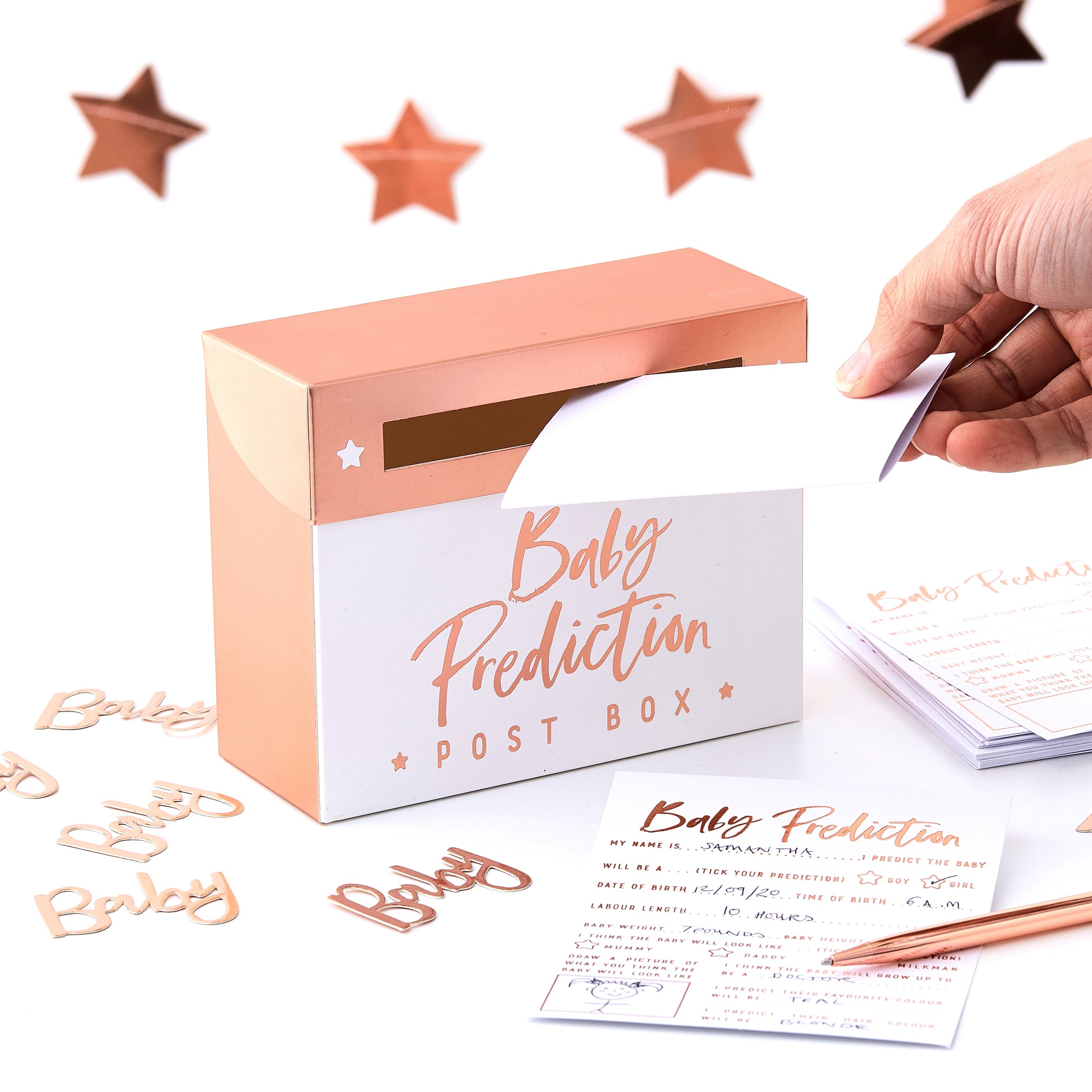 NEW! Baby Shower Prediction Box Game - 20 Cards