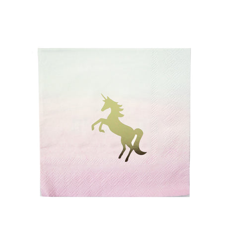 We Love Unicorns Cocktail Napkins