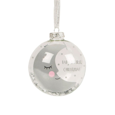 Baby's First Christmas Sleeping Moon Bauble