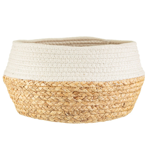 NEW IN! White Rope & Seagrass Storage Basket