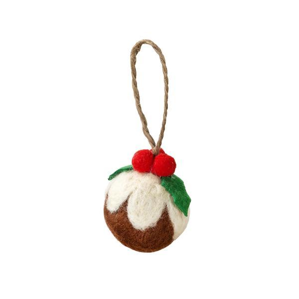 NEW IN! Christmas Pudding Felt Christmas Bauble