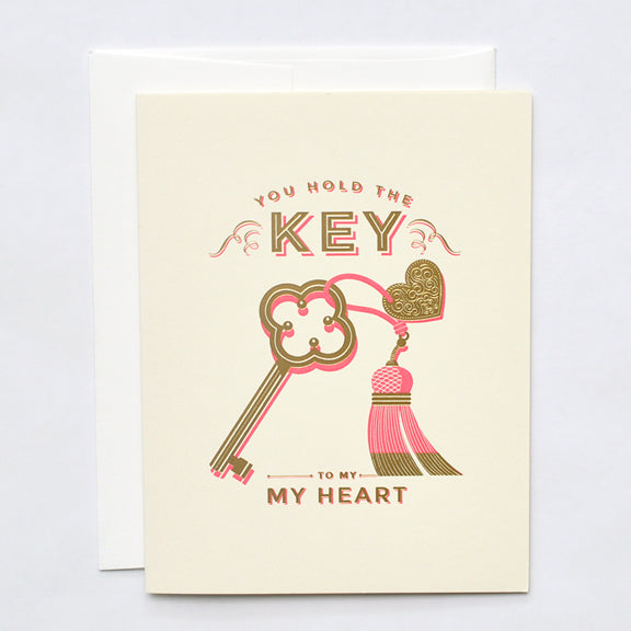 You Hold the Key to My Heart Letterpress Card