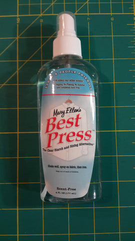 Best Press Spray Bottle - Scent Free - Black Rabbit Fabric