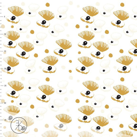 Shellie - Gold - Black Rabbit Fabric