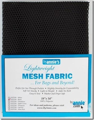 "Lightweight Mesh Fabric, 18"" X 54"", Black"