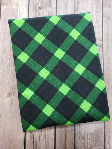 Green Argyle Plaid