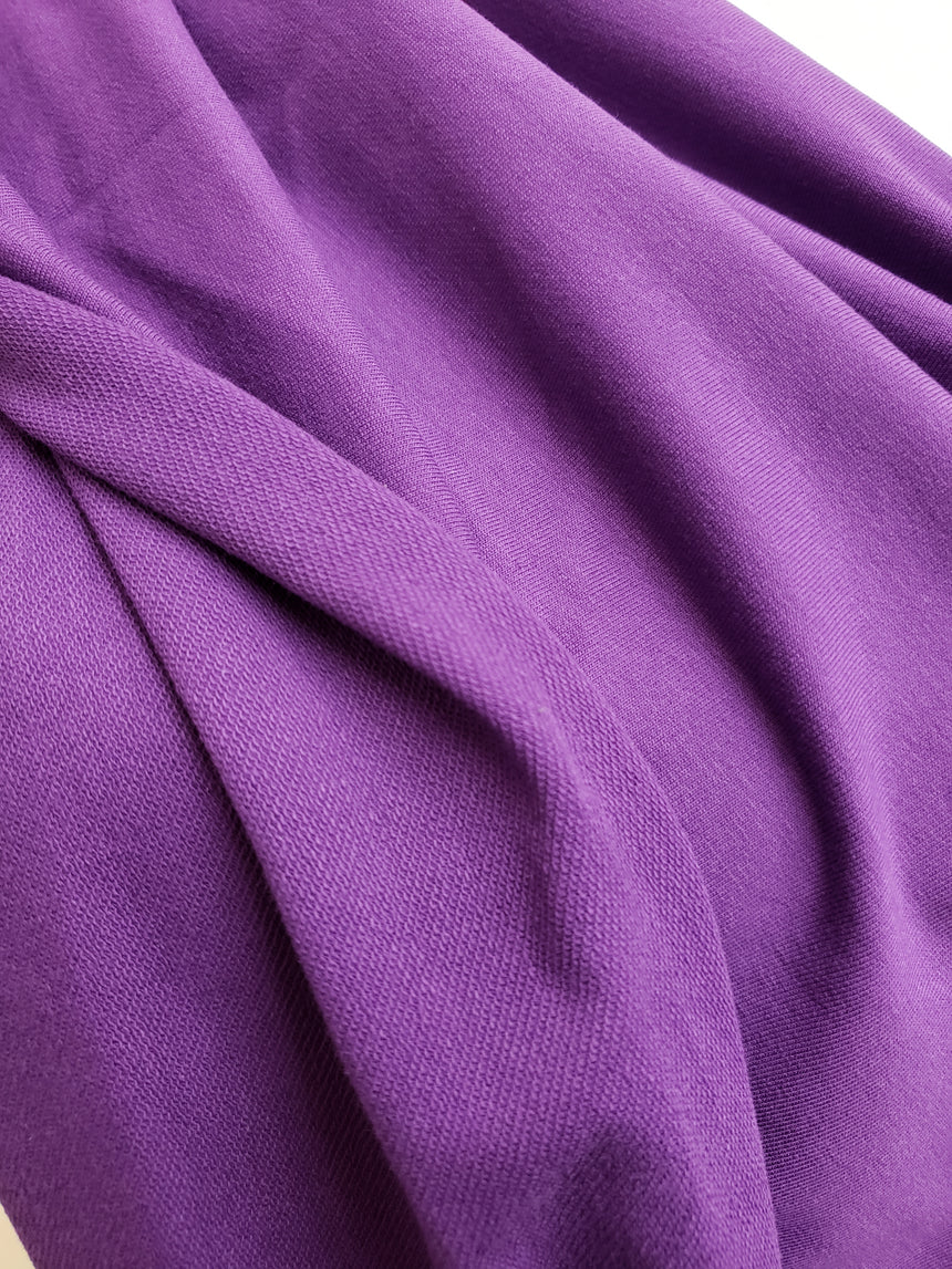 Royal Purple Cotton French Terry