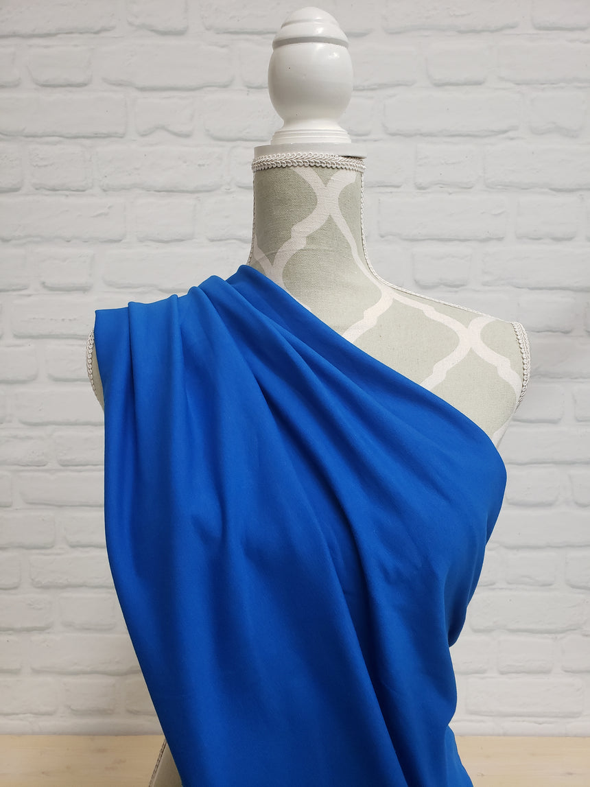 Royal Blue Cotton French Terry