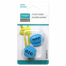 UNIQUE SEWING 2 Hole Cord Stops - Turquoise - 2 pcs