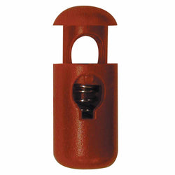 ELAN Barrel Cord Stop - 1 Hole - Red