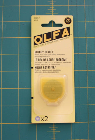 Olfa Replacement Blades For RTY1/G 28mm, 2 Count - Black Rabbit Fabric