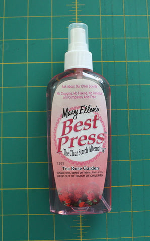 Best Press Spray Bottle - Tea Rose Garden Scent - Black Rabbit Fabric