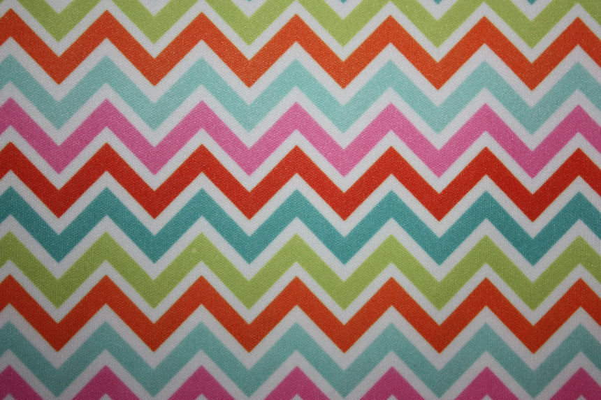 Babyville PUL Fabric Chevron - Black Rabbit Fabric
