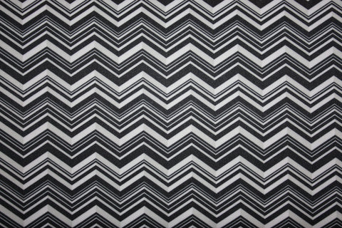 Babyville PUL Fabric Black and White Chevron