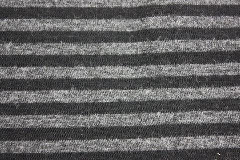 Black & 2T Charcoal stripe Bamboo Jersey Knit