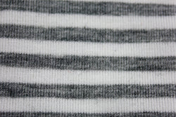Ivory & Light Grey stripe Bamboo Jersey Knit