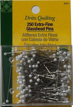 Extra Fine Glass Head Quilting Pin, 34mm, 250count