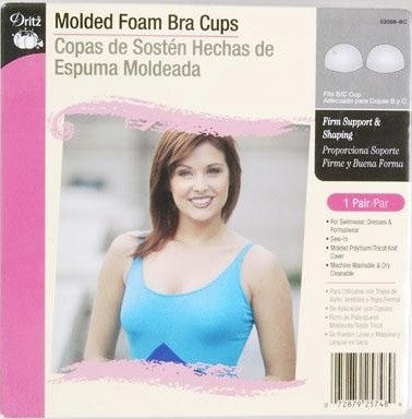 Molded Foam Bra Cup, White