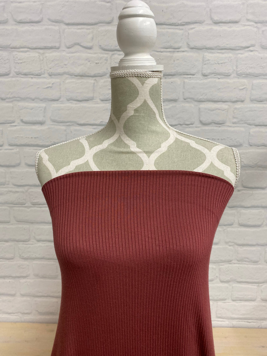 Ribbed Modal Rose Brown