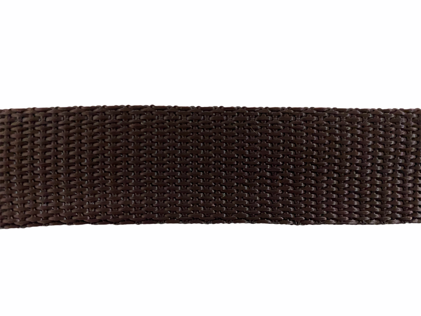 Polypro Webbing 25mm (1inch) - Chocolate
