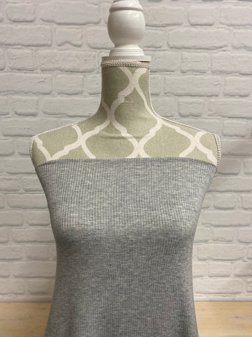 Ribbed Modal Heather Grey