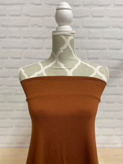 Rust Brown Bamboo Jersey Knit