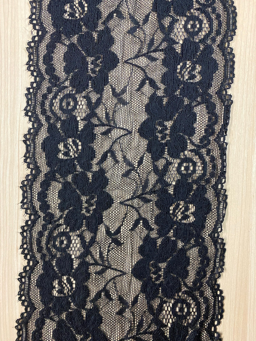 Stretch Lace Black 16cm (6.25inches) 527