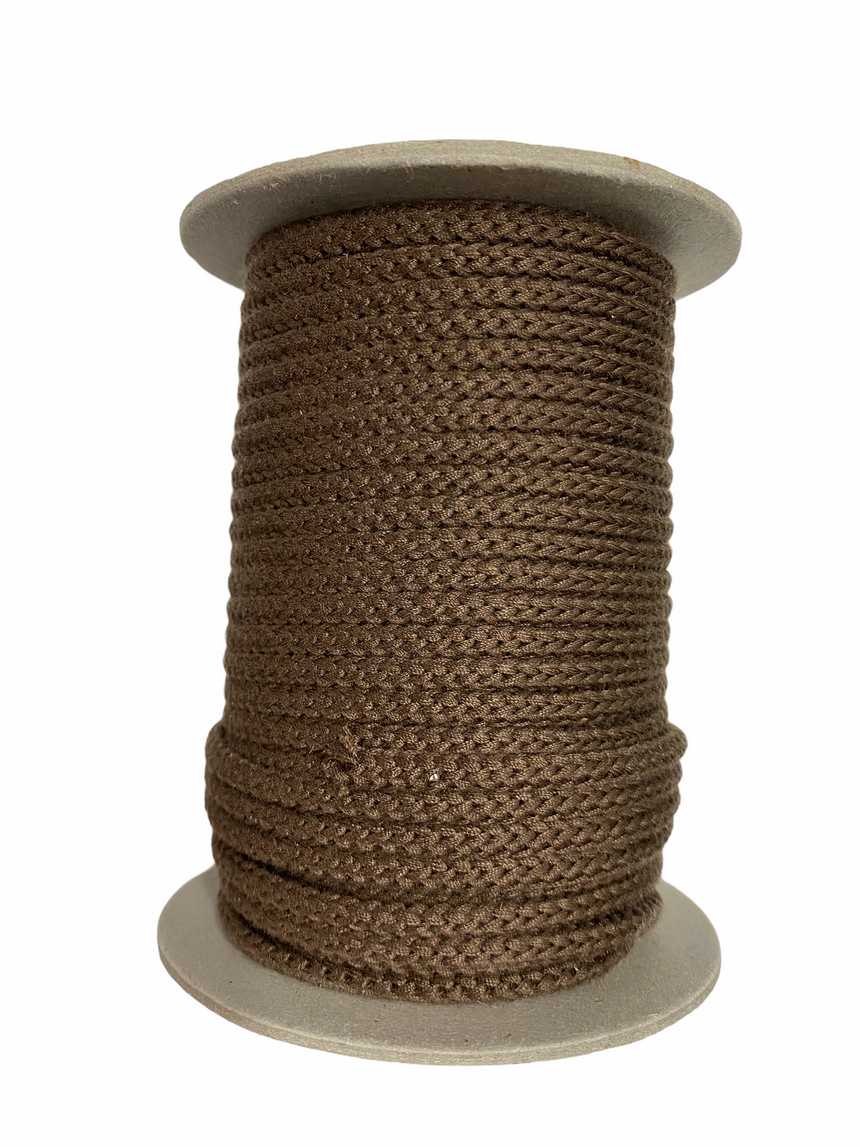 Braided Cord 5mm - Brown