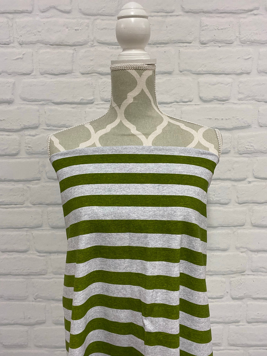 Green Heather Stripes