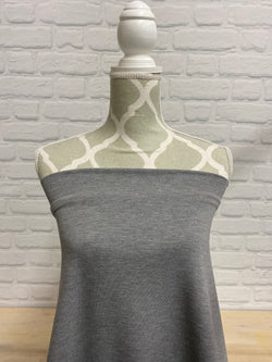 Bamboo Stretch French Terry - Medium Heather Grey