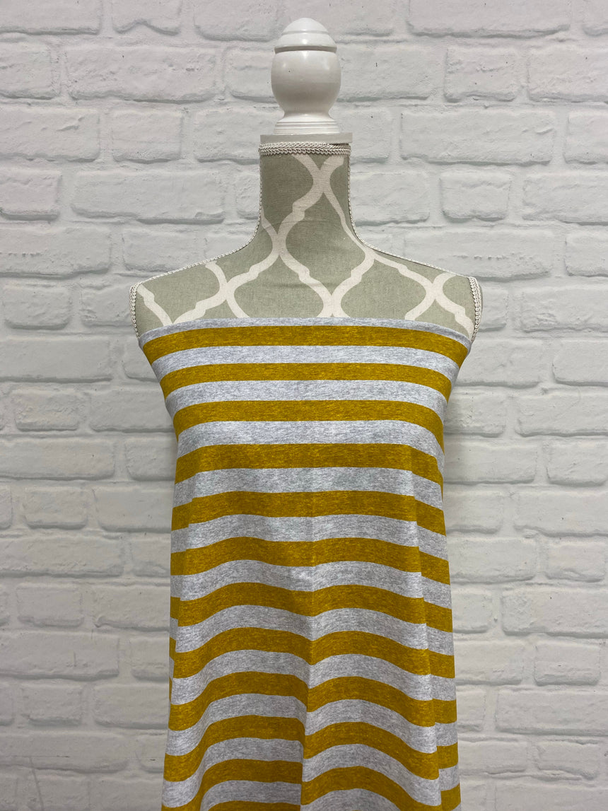 Mustard Heather Stripes