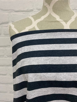 Charcoal Heather Stripes