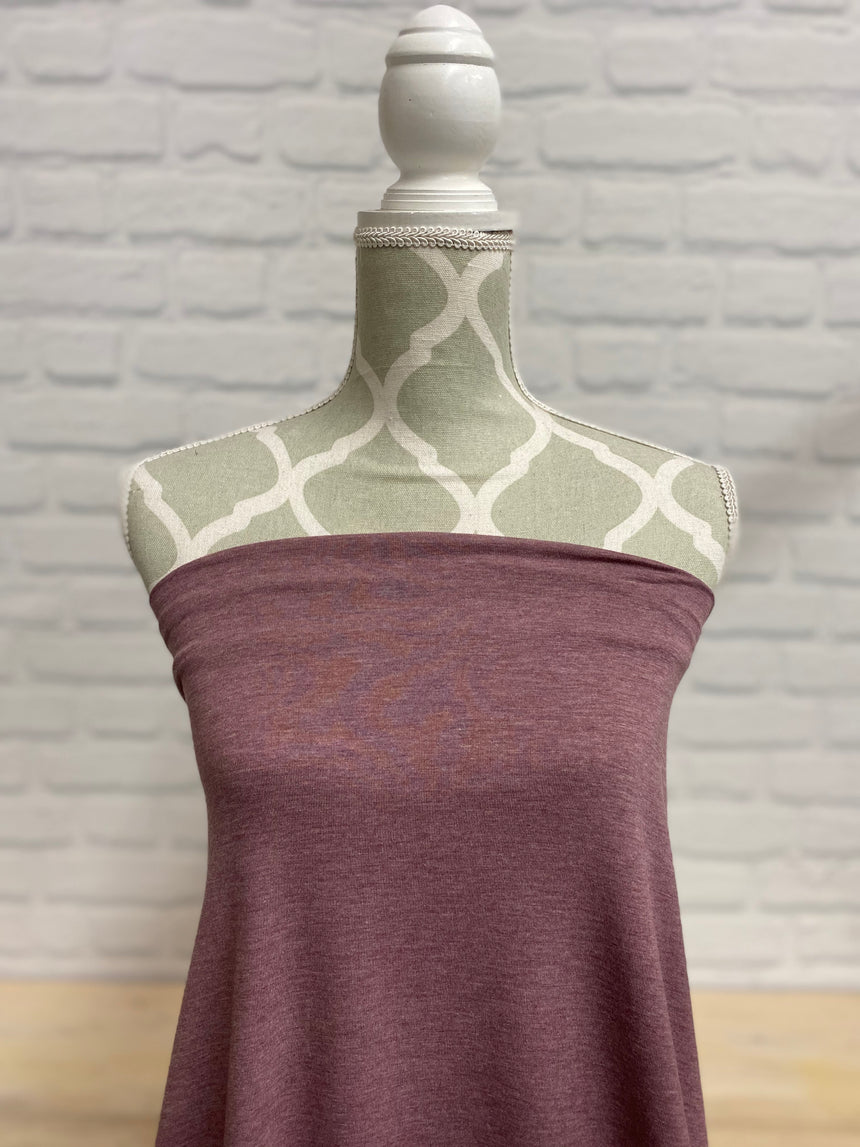 Heather Rose Brown Bamboo Jersey Knit