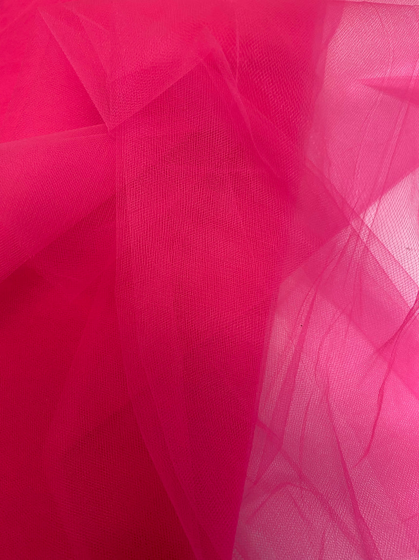 "Soft Nylon Tulle 137cm (53"") - Hot Pink"