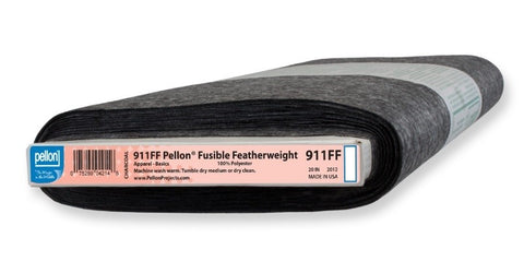 911FF Pellon Fusible Featherweight - Charcoal