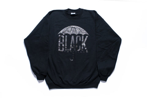 Black Umbrella Black Crewneck