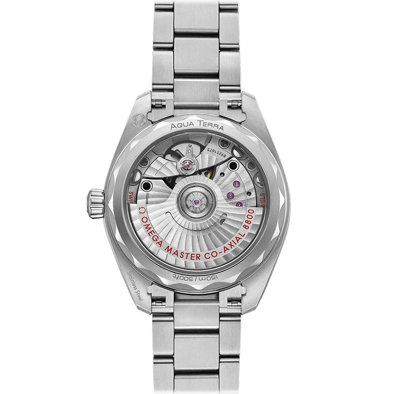 Omega - Ladies' Seamaster Aqua Terra Co‑Axial Master Chronometer 34 mm Watch 220.10.34.20.02.001 Rear