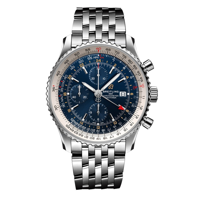 Breitling - Men's Navitimer 1 Chronograph GMT 46 Watch A24322121C2A1