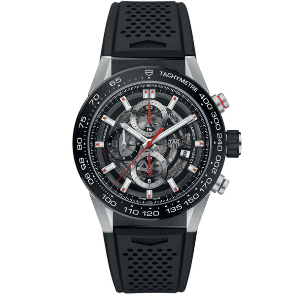 TAG Heuer- Men's Carrera Calibre Heuer 01 Automatic Chronograph Watch CAR201V.FT6046