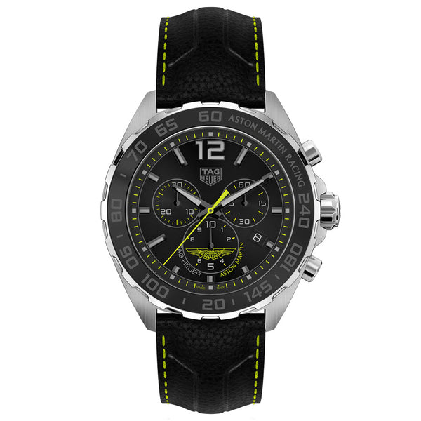 TAG Heuer - Men's Formula 1 43 mm Aston Martin Special Edition Chronograph Watch CAZ101P.FC8245