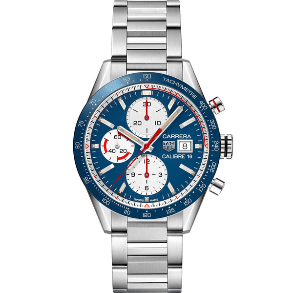 TAG Heuer - Men's Carrera Calibre 16 Automatic Chronograph 41 mm Watch CV201AR.BA0715