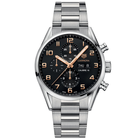 TAG Heuer - Men's Carrera Calibre 16 Day-Date Automatic Chronograph 43 mm Watch CV2A1AB.BA0738