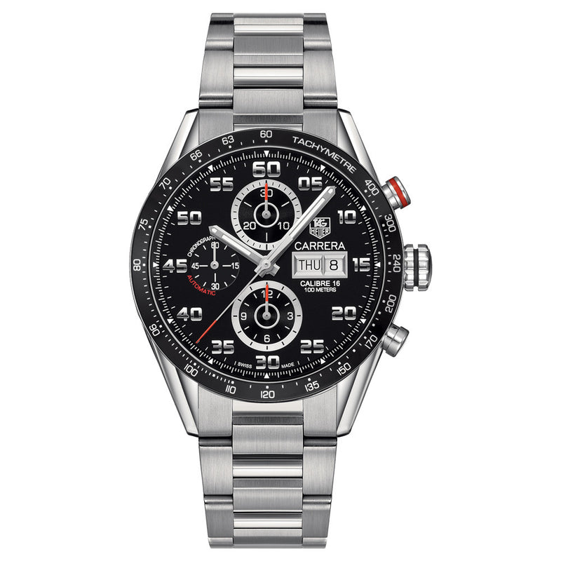 TAG Heuer - Men's Carrera Calibre 16 Day-Date Automatic Chronograph 43 mm Watch CV2A1R.BA0799