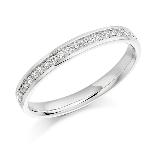 Platinum 2.6mm 0.17ct Grain Set Diamond Band HETJR1041