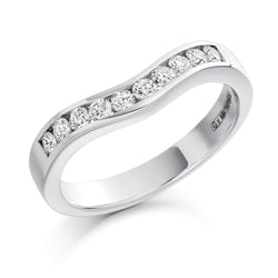 Platinum 3.3mm 0.33ct Channel Set Shaped Diamond Band HETJR1203