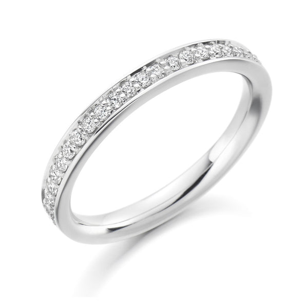 Platinum 2.6mm 0.25ct Grain Set Diamond Band HETJR1461