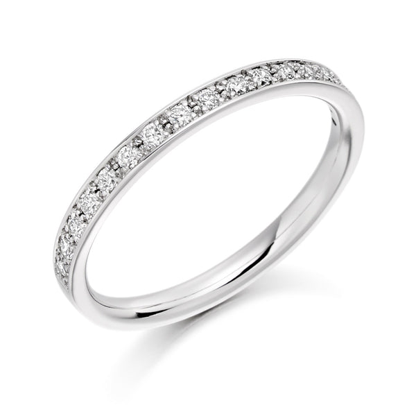 Platinum 2.1mm 0.25ct Grain Set Diamond Band HETJR1792