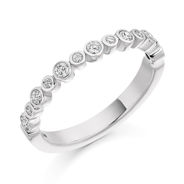 Platinum 2.7mm 0.30ct Rubover Set Diamond Band HETJR1841