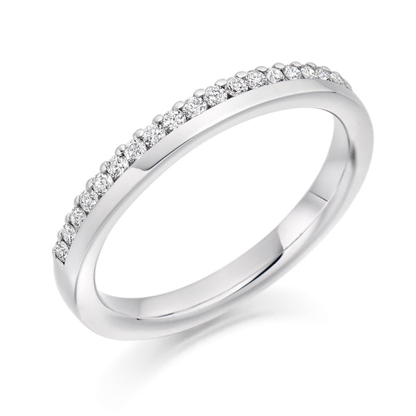 Platinum 2.7mm 0.22ct Offset Claw Set Diamond Ring HETJR2301